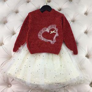 2020 design new high quality children's clothing girls skirts ice and snow sweater half-length star skirt Christmas socks logo free shipping