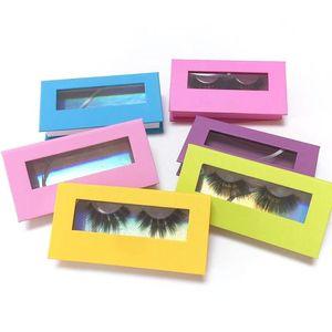 New Eyelash Packaging Box Lashwood Packaging with Tray Rectangle Case Fluffy 25mm Mink Lashes Box Eyelashes Package print logo