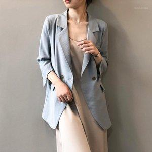 HXJJP Весна 2020 Новая корейская версия Blazer три четверти двубортный повседневный маленький костюм повседневный британский стиль верхняя одежда1