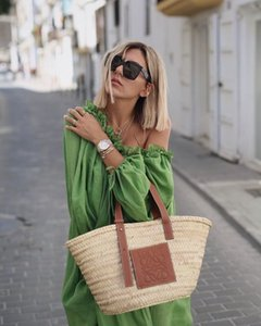 9100 summer loose and comfortable holiday style fruit green shoulder dress