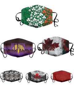Maske Şanslı Yonca Dijital Spor Cadılar Bayramı Partisi Ayarlanabilir Yüz Maskeleri Yeniden Kullanılabilir Toz Ile Sıcak Rüzgar Geçirmez Festival Maskesi HWD4087