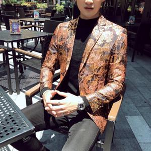 2020 Autumn Mens Blazer Jacket Blazer Homme Personality Jacquard Wedding Floral Men Stage Singer Costume Homme Size 5xl