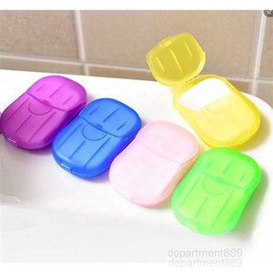 A-Disposable Anti dust Mini Travel Washing Hand Bath Cleaning Portable Boxed Foaming Soap Paper Scented Sheets GWF1814