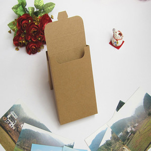400pcs lot 15.5*10.8*3cm Blank Brown Kraft Paper Envelope Postcards Greeting Card Cover Photo Packaging Boxes Free DHL Shipping