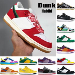 Nuovi migliori Scarpe da basket Uomini Domunk Habibi Sean Chunky Dunky Shadow Travis Scotts Kentucky Multi Colour Low Mens Donne da uomo Scarpe da ginnastica Scarpe da ginnastica