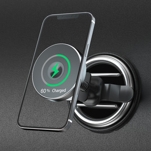 15W Wireless Magsafe Voiture Qi Chargeur Aimant ADSORBABLE TÉLÉPHONE ADSORBABLE SUPPORT DE VENTE AIR POUR L'IPHONE 12 PRO Max 12mini Huawei Chargeur rapide
