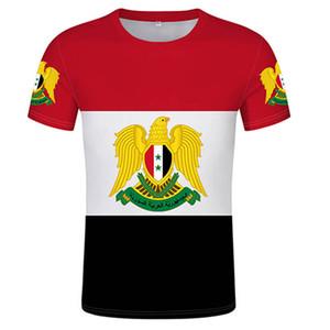 Syrian Arab T-Shirt Custom Mens T-Shirt Syrian Arab Flag 3D T-shirt Signing Print Photo Text Jersey