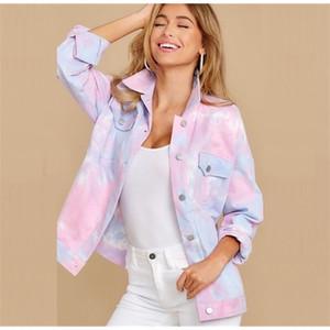 Women's spring and autumn 2020 new Korean style tie-dye shirt loose denim jacket for women jacketZ1127