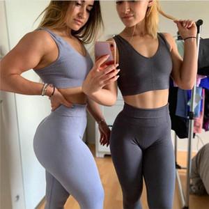 New 2PCS Seamless Yoga Set Women Fitness Clothing Sportswear Woman Gym Leggings+Push-up Sports Bra Running Sports Suits