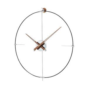 Spain Large Wall Clock Modern Design Metal Luxury Wall Watches Clocks Home Decor Silent Living Room Orologi Da Parete Gift D039