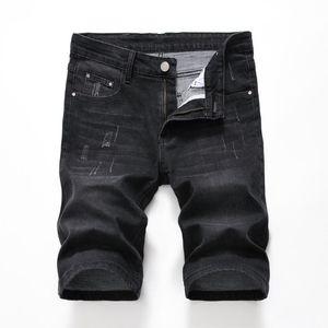 2021 Summer Style Men's Short Jeans Fashion Ripped Regular Fit Men Denim Trousers Casual Mens Denim Shorts Plus Size Streetwear