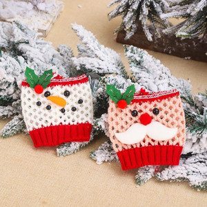 Christmas Wine Glass Set Santa Claus Snowman Christmas Decorations For Home Christmas Cup Cover Navidad Decor Happy New Year