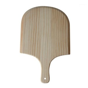 Kitchen Storage & Organization 14 Inch Natural Wooden Pizza Tray Plate Charcuterie Board Spatula Shovel Paddle Baking Bakeware And Bread Tra