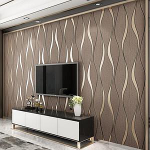 3D Striped Wallpaper for Walls Living Room TV Background Decoration Home Improvement Decor Modern Papier Peint Papel De Parede