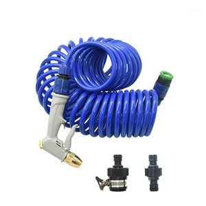 Garden Hoses Car Wash Water Gun Hose Nozzle With EVA Spring Tube Irrigation Sprinkler Mutifunctional Sprayer Kit1