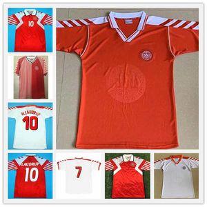 Helveg Heinteze Vintage Camisa de fútbol clásico Calcio Schmeichell Retro 1998 Dinamarca Copa Mundial Fútbol Jersey 98 00 Danish M Laudrup