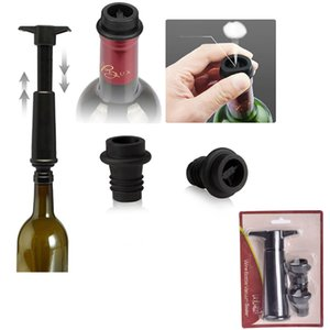 High Quality Wine Bottle Saver with 2 Vacuum Stopper Plastic Vacuum Wine Stopper Wine Preserver Vacuum Pump for Bar Tools