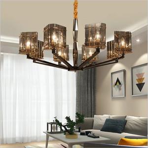 Postmodern personality branch crystal chandelier simple living room bedroom dining room glass hanging lamp LED chandelier light