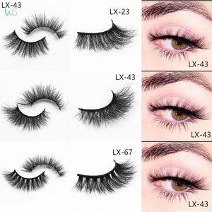 17mm 3D False Mink Lashes in Bulk Natural Wipsy Soft Makeup Eyelashes Medium Short Wholesale Cosmetics Different Volume Styles