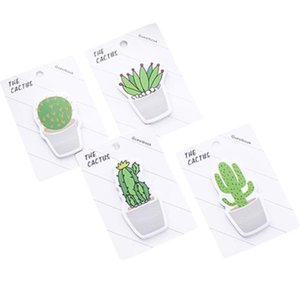 2021 Kaktus-geformte klebrige HINWEIS Small frische kreative n-time-Aufkleber können tragbares Notizpapier freie Verschiffen reißen