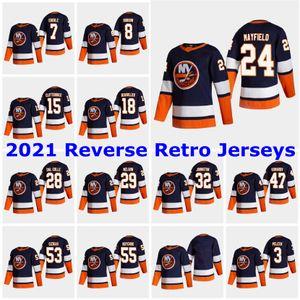 2021 Retro Retro New York Islanders Jerseys 21 Otto Koivula Jersey 38 Sebastian AHO 34 Thomas Hickey 33 Christopher Gibson Custom Steinsed