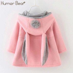 Humor Bear Baby Girl Vestiti inverno Neonati Principessa Abito manica lunga cappotto per bambini vestiti 201128