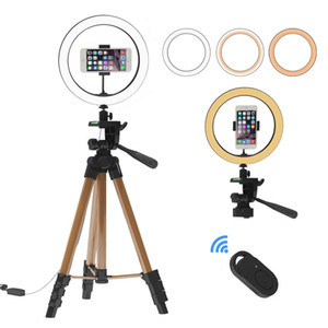 LED Ring Light Photographic Selfie Ring Lighting with Stand for Phone Youtube Makeup Video Studio Adjustable Tripod Bluetooth Selfie Remote