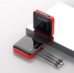 Mini Power Bank 20000mAh 5V 2A Mirror Screen Poverbank External Battery Portable Charger 20000 mAh Powerbank