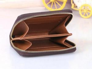 Zippy محفظة عمودي الطريقة الأكثر أنيقة تحمل حول بطاقات المال والعملات الشهيرة تصميم الرجال جلد محفظة بطاقة حامل طويل الأعمال
