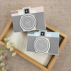 10 Pcs  Pack Pink & Blue Camera Style Gift Candy Boxes Wedding Anniversary Party Decoration Valentine's Day Cake Box