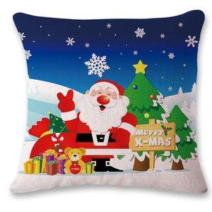 45*45cm Christmas Sequin Pillow Case Glitter Sofa Throw Cushion Cover Pillow Case Home Christmas Decor Pillow Cover 10 styles PPD2562