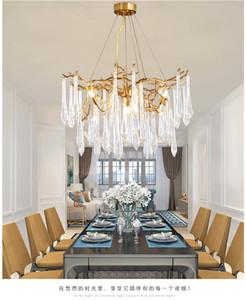 Luxurious LED Chandelier Nordic 6 8 12 Head K9 Crystal Ceiling Chandelier Light for Dining room Villa Living room Decor