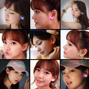 Led Earrings Women Men Hot Sale Fashion Jewelry Light Up Crown Crystal Drops LED Earrings2021