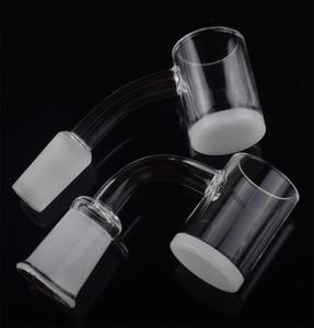DHL 25mm OD quartz banger nail 4mm Thick Opaque Bottom Flat Top 10mm 14mm 18mm Quartz Nail for Glass Bong Adapter Dab Rigs