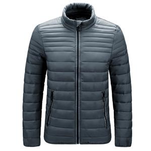 2021 New Mens Parka Winter Cotton Fashion Male Solid Slim Stand Collar Puffer Jackets Casual Windbreak Warm Coat Outwear Lhfs