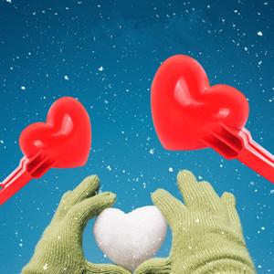 Heart Snowball Maker Kids Children Outdoor Snowball Sand Mod Toys Fight Sports Outdoor Games Sand Mold Tool