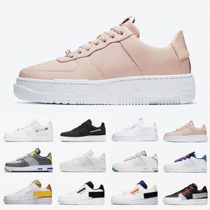 Air Force 1 af1 حار بكسل الفقرة-الضوضاء 2.0 دونك نوع منصة منخفضة الأحذية الاحذية أسود أبيض الظل رد فعل ترافيس البريدي N354 الرجال النساء الرياضة أحذية رياضية