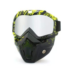Wholesale anti sand motorcycle goggles water transfer printing riding mask anti fog anti impact welding bio chemical mask