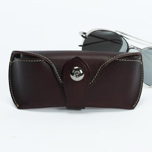 Handmade Eyeglasses Wom Hard Genuine Leather Spectacles Sunglasses High-grade Wallet Eyewear Case For Box Men Hasp1 Holder Qhohl