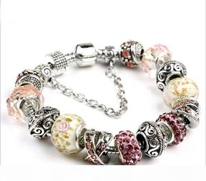 K 18 +3cm New Fashion European Charm Bracelets Fit For Women 925 Silver Snake Chain Bangle Diy Jewelry Children &#039 ;S Day As Christm