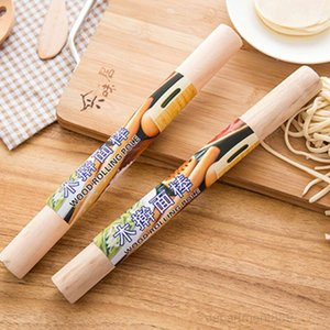 Natural Wooden Rolling Pin Fondant Cake Decoration Kitchen Tool Durable Non Stick Dough Roller High Quality OWD2482