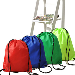 39*33CM Waterproof Nylon Storage Bags Drawstring Backpack Baby Kids Toys Travel Shoes Laundry Lingerie Makeup Pouches