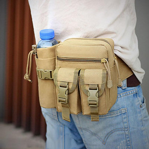 Наружная армия вентилятор тактическая сумка на плечо водонепроницаемый Оксфорд ткань кемпинг альпинизм мешок чайник талии рюкзак