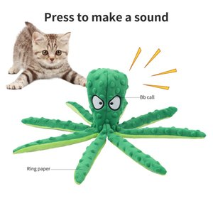 Funny Octopus Plush Toy Educational Bite Resistant Vocal Pet Doll For Cat And Dog Recreation Supplies