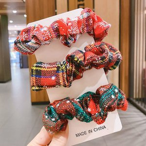 Christmas Sweet Red Plush Large Intestine Fat Sausage Hair Ring Online Influencer Cute Girl Ins Rubber Band for Bun Haircut Headband