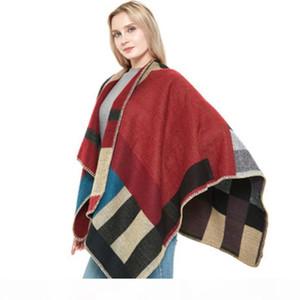 Sweater Oversized Cardigan Olivia Palermo Pista de Pista de Passarela Estômago Cardigan Cardigan Cabo Poncho Shawl Mulheres Senhora S118
