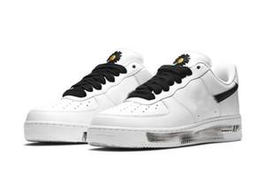 2020 Air auténtico G-Dragon Peaceminusone para-ruido 2.0 x Low 1 Blanco Blanco Black Forces Hombres Mujeres Zapatos al aire libre Zapatillas de deporte con caja original