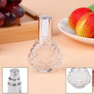 Portable 15ml Mini Travel Refillable Cosmetics Empty Bottle Aluminum Spray Head Mini Clear Glass Spray Perfume Bottle