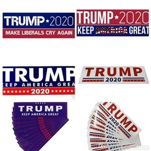 HOT Donald Trump Stickers 7.6*22.9cm Bumper Sticker Keep Make America Great Decal for Car Styling Vehicle Paster DHB837