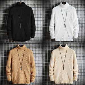 Spring Automne Sweater Streetwear Streetwear Japan Style Pull Hommes Casual Harajuku Manches longues Vêtements Hommes Turtelneck Pull Turtelneck Hommes Z1210